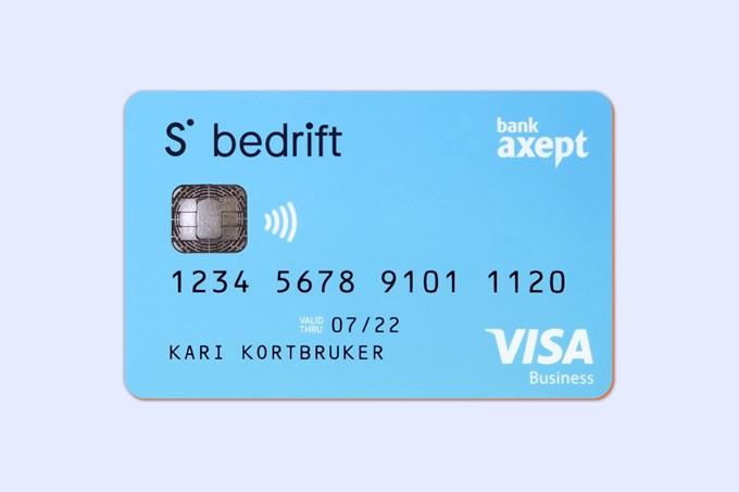 Bilde av bankkort for bedrifter