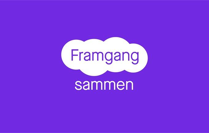 Illustrasjon av Framgang sammen-logo. Foto.