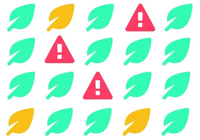 Illustrasjon av ikoner for etisk merking av fond