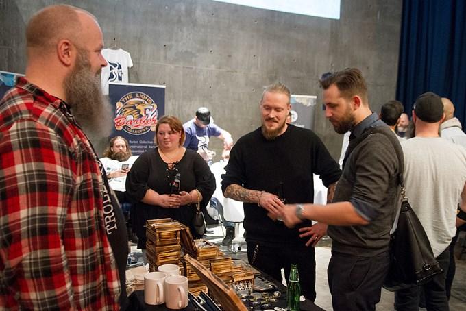 """Bilde av Trollskjegg-grunder Sverre Bjotveit på på """"Norges beste skjegg""""-konkurransen."""