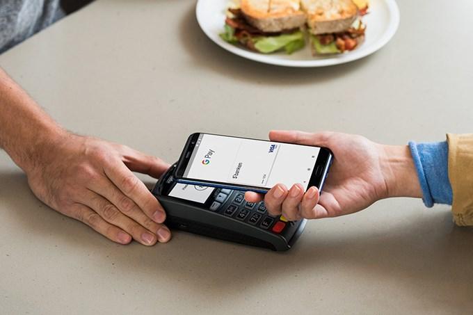 Mobilbetaling med Google Pay. Foto.