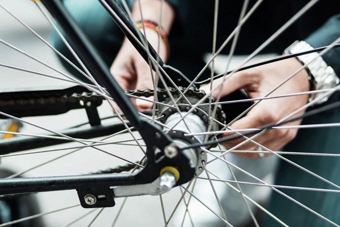 Bilde av sykkelhjul