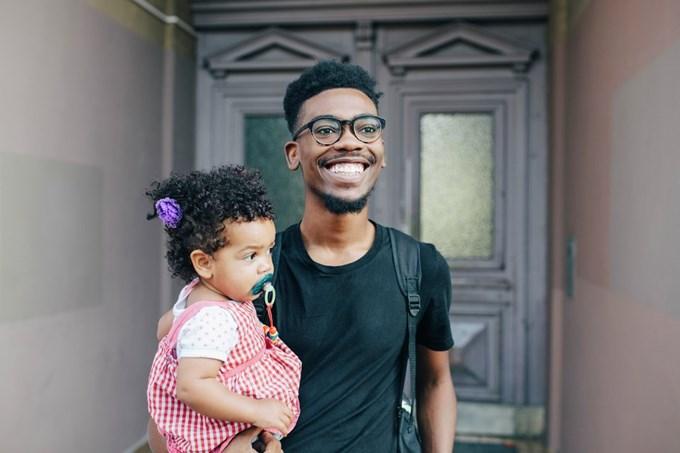 Far og datter. Foto